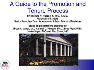 A Guide to the Promotion and Tenure Process