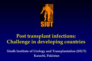 Post transplant infections:  Challenge in developing countries