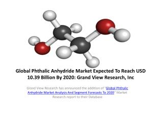 Phthalic Anhydride Market Forecast to 2020