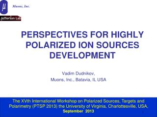 PERSPECTIVES FOR HIGHLY POLARIZED ION SOURCES DEVELOPMENT