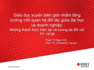 Pham Thi Ngoc Anh PGS. TS. Christopher Ziguras