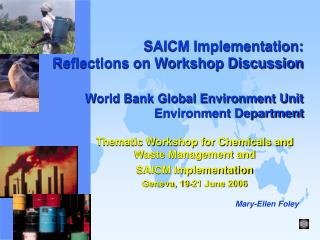 Thematic Workshop for Chemicals and Waste Management and  SAICM Implementation