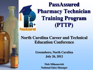 PassAssured  Pharmacy Technician Training Program (PTTP)