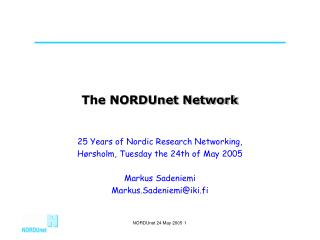 The NORDUnet Network