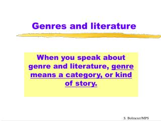 Genres and literature