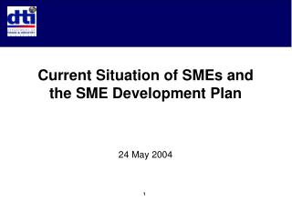Current Situation of SMEs and the SME Development Plan