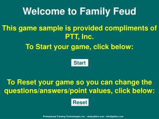 Welcome to Family Feud