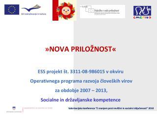 Konzorcijski partnerji : Šolski center Ptuj Dijaški dom Ptuj Gimnazija Ormož