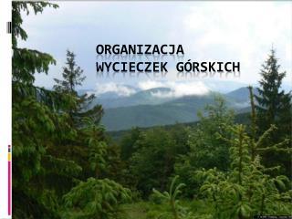 Organizacja  wycieczek górskich