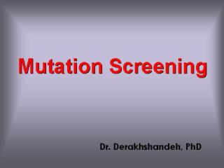 Methods for detection of un known mutations BRCA