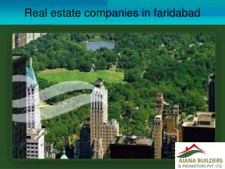Real estate companies in faridabad