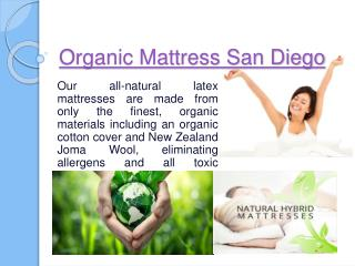 Latex Mattress San Diego