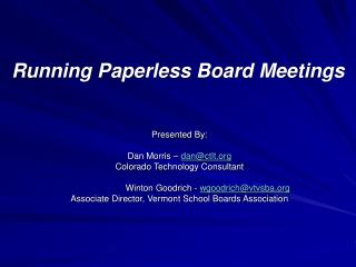 Running Paperless Board Meetings