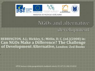 NGOs and alternative development