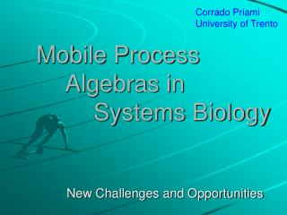 Mobile Process 	Algebras in 		Systems Biology