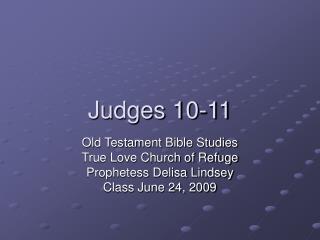 Judges 10-11