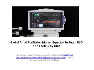 Global Atrial Fibrillation Market  Analysis & Share to 2020