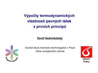 V ýpočty termodynamických vlastností pevných látek  z prvních principů