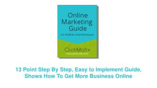 ClickMatix Online Marketing Guide Cover