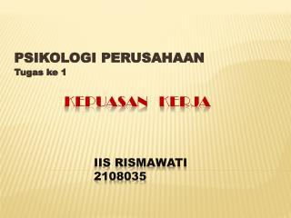 IIS RISMAWATI 2108035