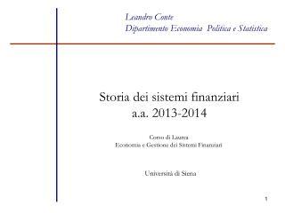 Leandro Conte  Dipartimento Economia  Politica e Statistica