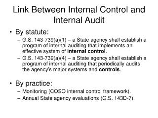 Link Between Internal Control and Internal Audit