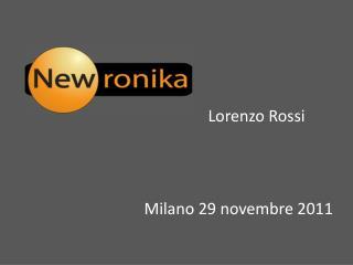 Milano 29 novembre 2011