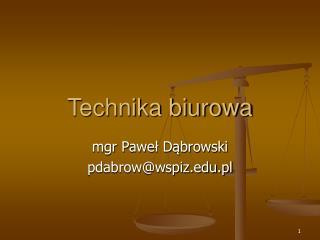 Technika biurowa