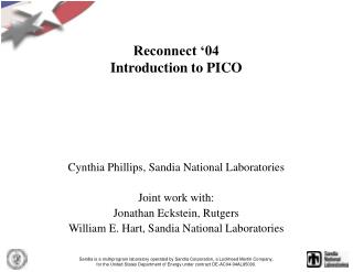 Reconnect '04 Introduction to PICO