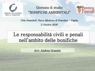 Giornata di studio �BONIFICHE AMBIENTALI�