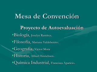 Mesa de Convención