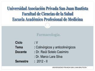 Farmacología.