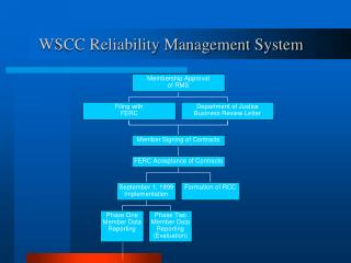 WSCC Reliability Management System