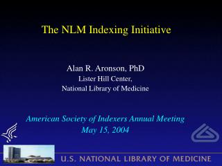 The NLM Indexing Initiative