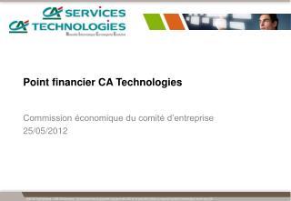 Point financier CA Technologies