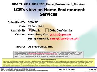 OMA-TP-2011-0047-INP_Home_Environment_Services   LGE's view on Home Environment Services