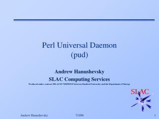 Perl Universal Daemon (pud)