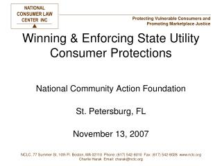 Winning & Enforcing State Utility Consumer Protections