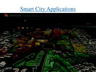 Smart City Applications