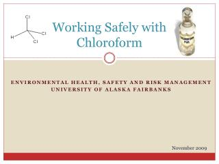 Working Safely with Chloroform