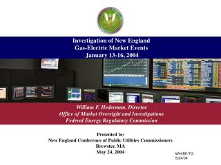 Investigation of New England Gas-Electric Market Events  January 13-16, 2004