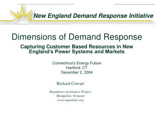 Dimensions of Demand Response