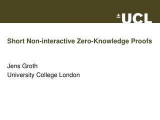 Short Non-interactive Zero-Knowledge Proofs