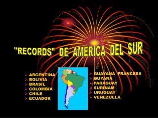 ARGENTINA       BOLIVIA  BRASIL  COLOMBIA  CHILE  ECUADOR