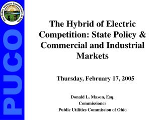 The Hybrid of Electric Competition: State Policy & Commercial and Industrial Markets