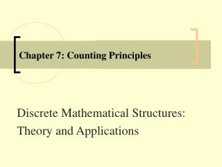 Chapter 7: Counting Principles