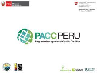 �Econom�a del Cambio Clim�tico en Cusco y Apur�mac�   Escenarios socioecon�micos al 2030