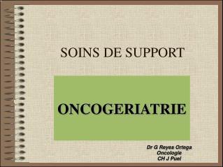 SOINS DE SUPPORT
