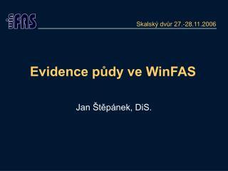 Evidence půdy ve WinFAS