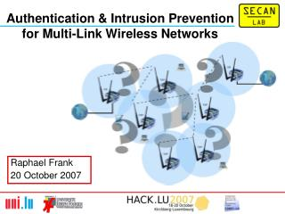 Authentication & Intrusion Prevention for Multi-Link Wireless Networks
